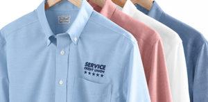 Screenprinted dress shirts
