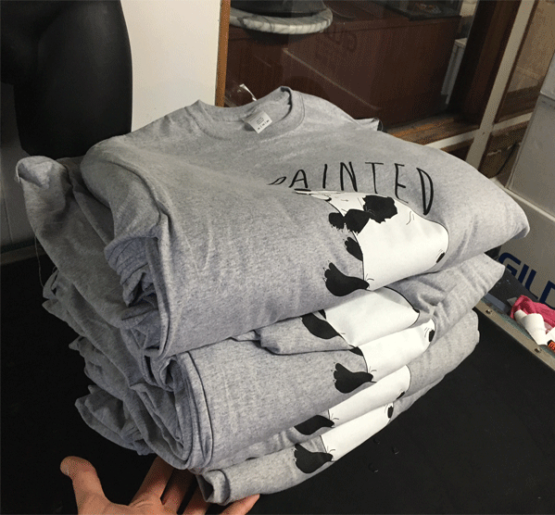 A Full Stack of shirts for Painted Faced out of Toronto
