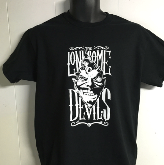 A classic 1 color Custom Printed Shirt for Lonesome Devils